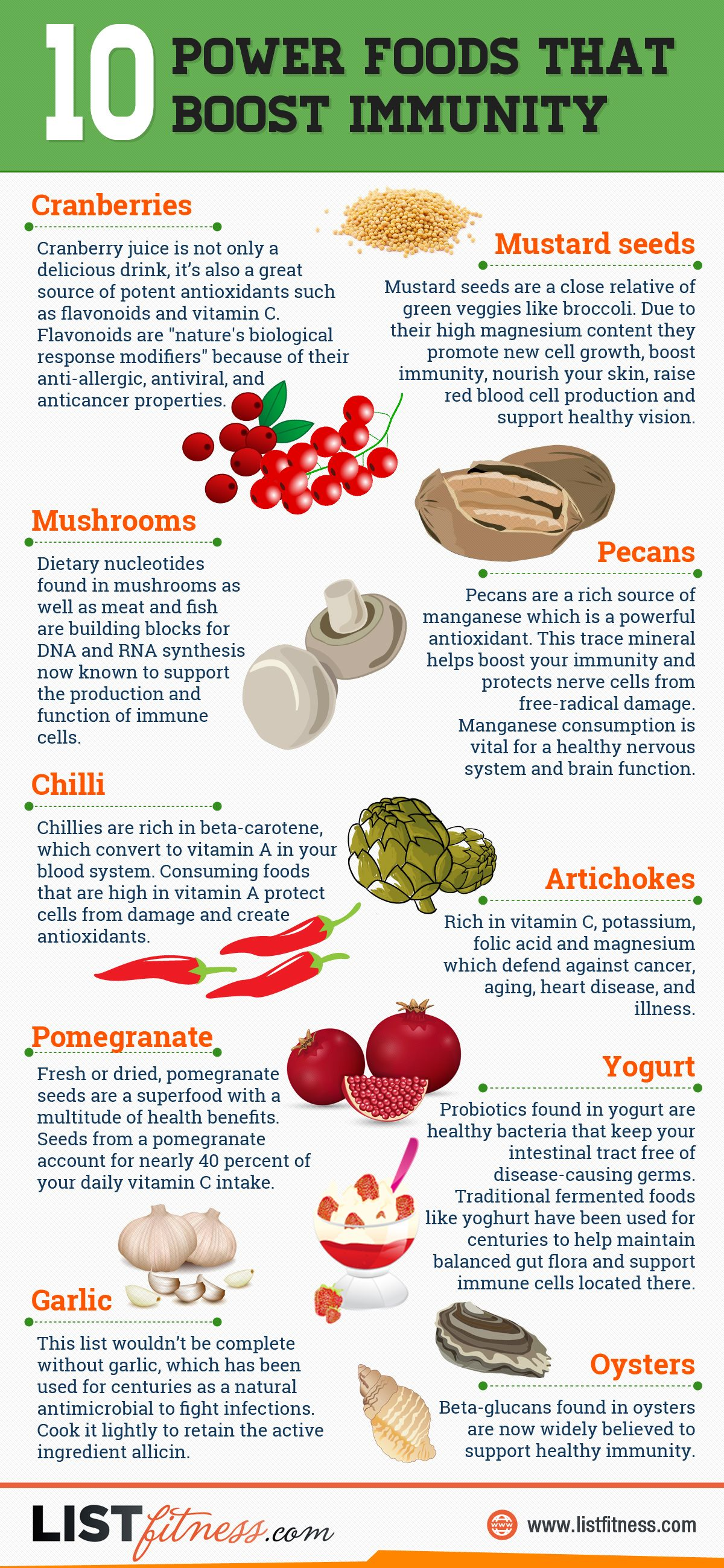 10 Power Foods That Boost Immunity