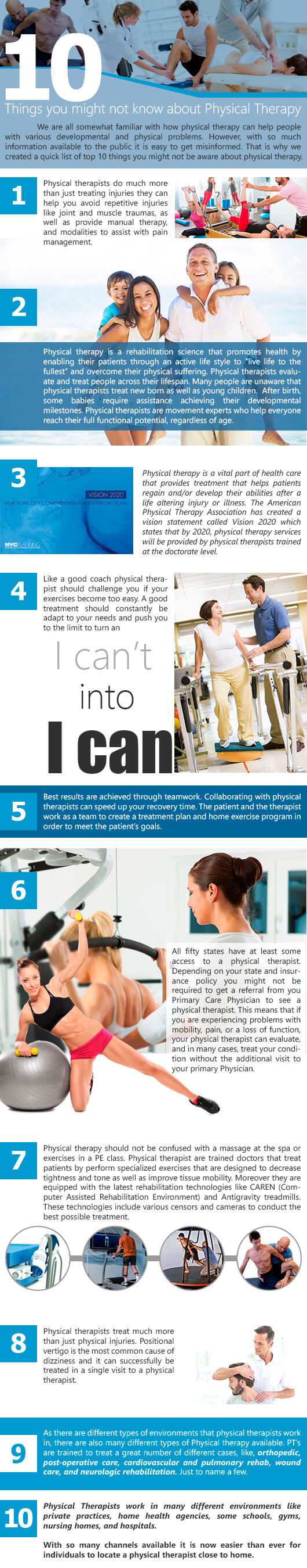 10 Things you Might Not Know About Physical Therapy