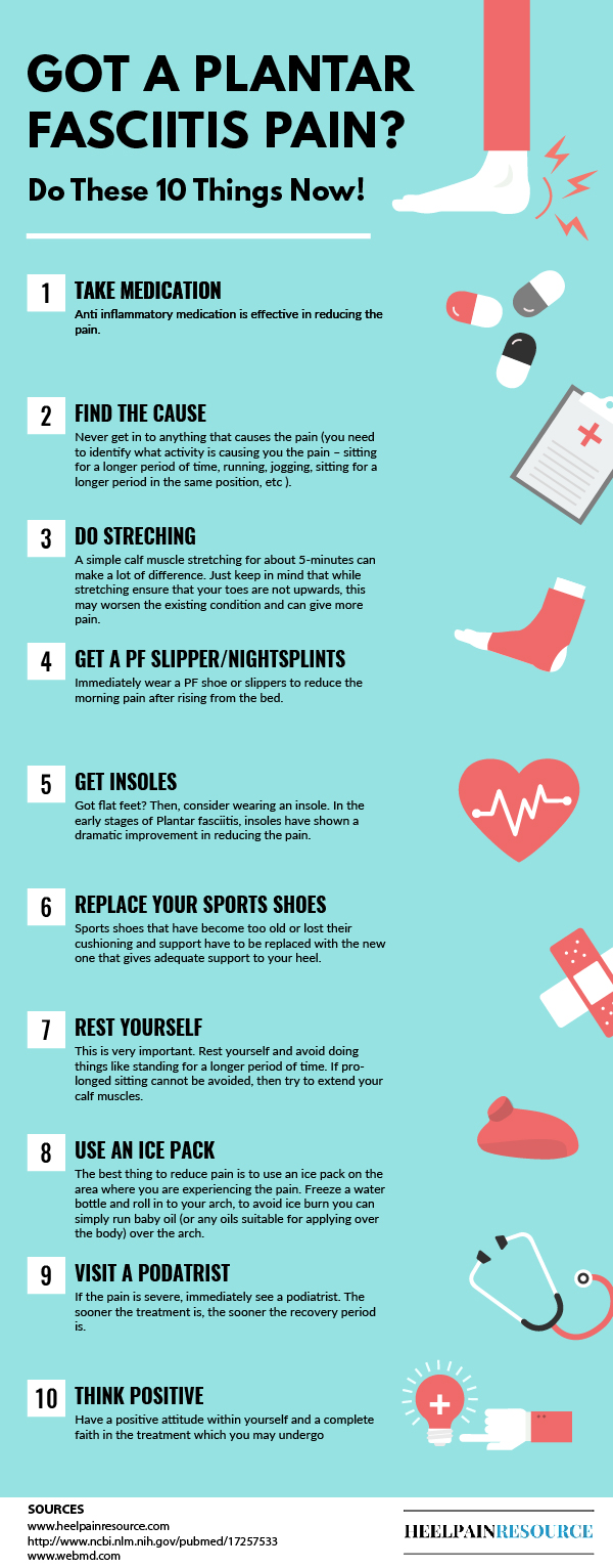 10 Things to Do When You are Suffering From Plantar Fasciitis
