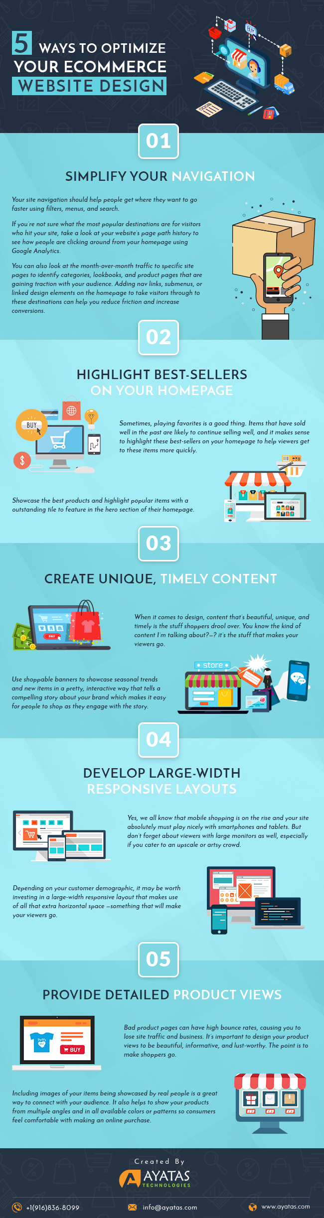 5-Simple-Ways-to-Optimize-your-eCommerce-Website-Design-Infographic-plaza