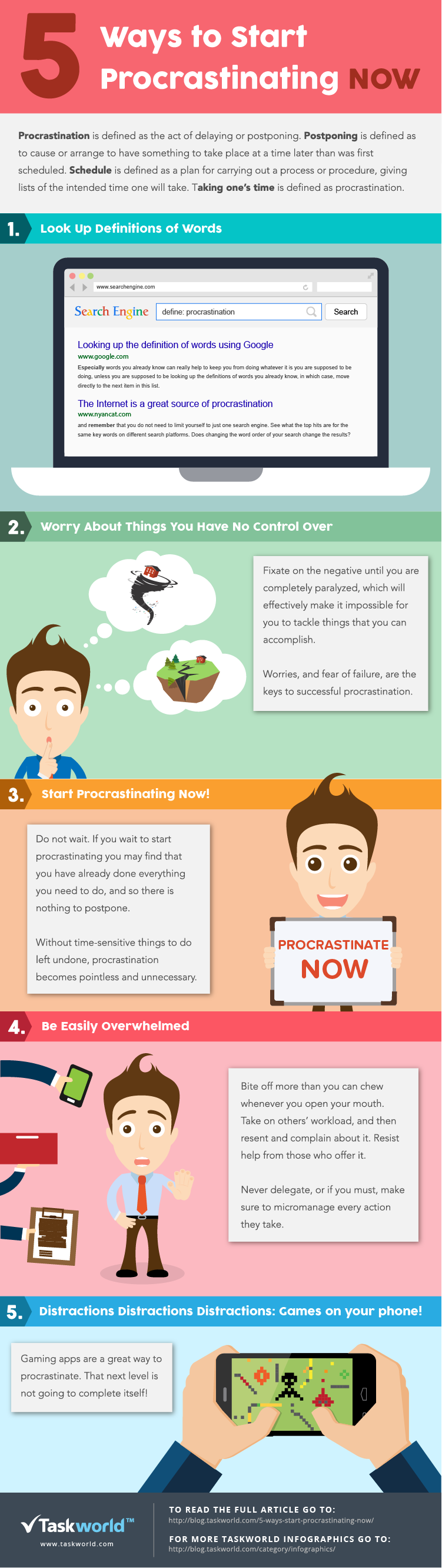 5-ways-to-procrastinate-infographic-plaza