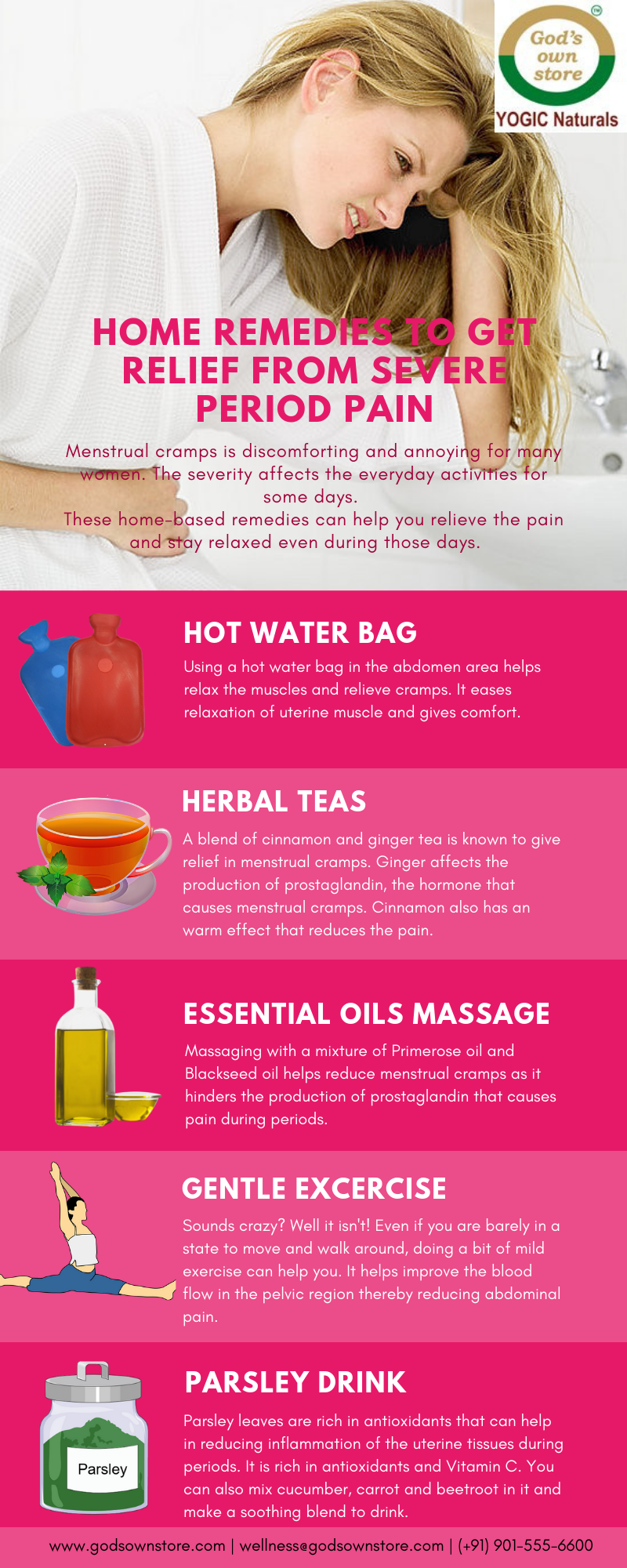 Home Remedies to get relief from Severe Period Pain