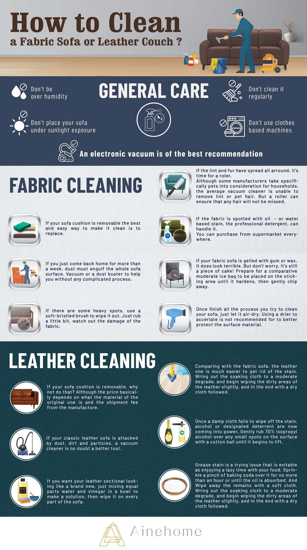 How To Clean A Fabric Sofa Or Leather Couch-infographic-plaza