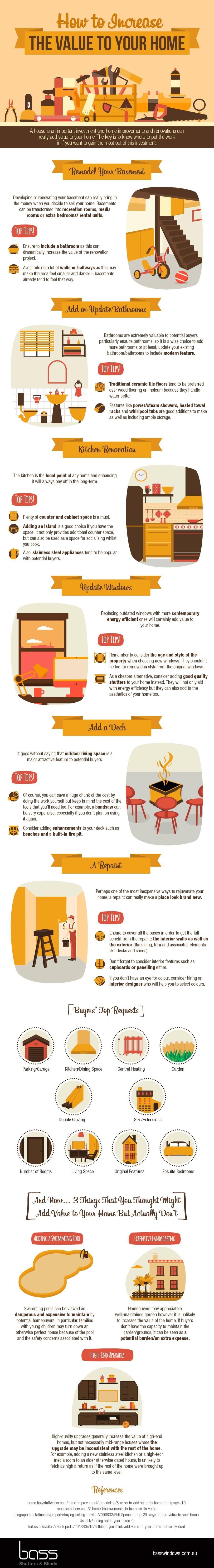 How to increase the value to your home infographic for How to increase home value