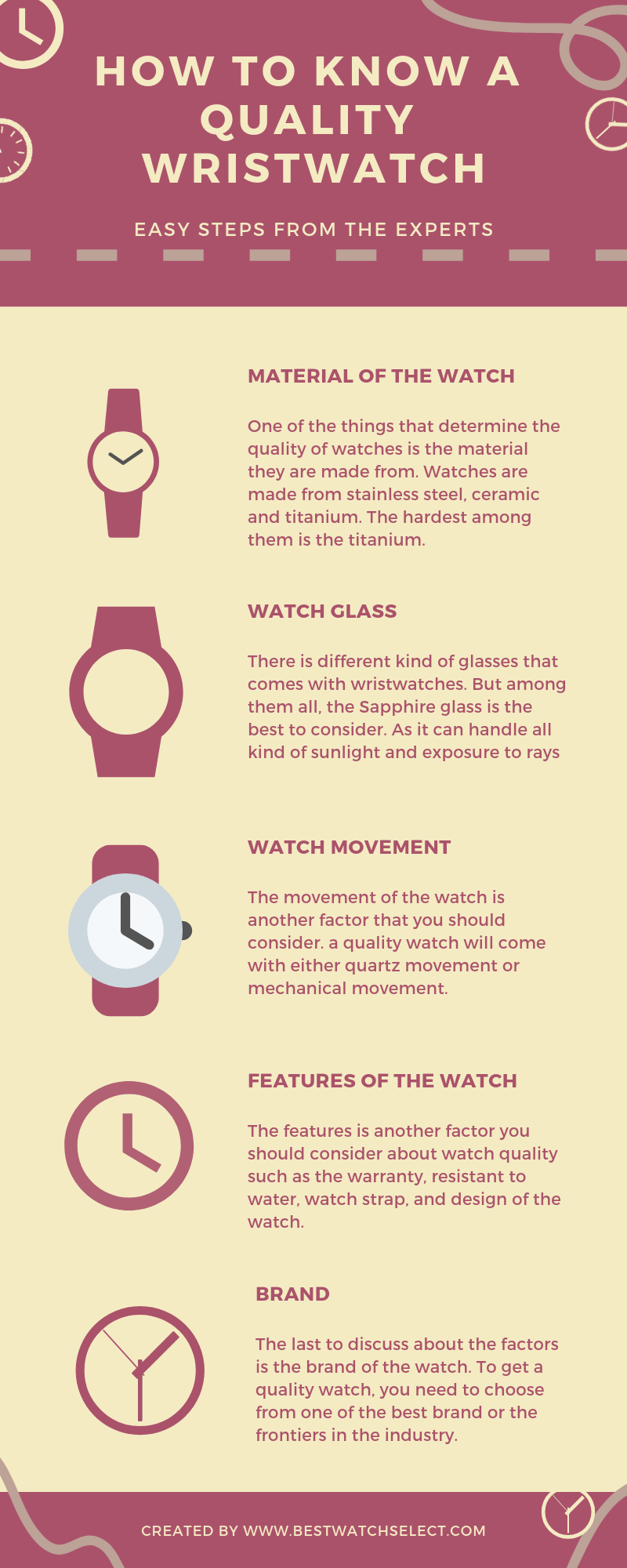 How to know a quality wristwatch-infographic-plaza