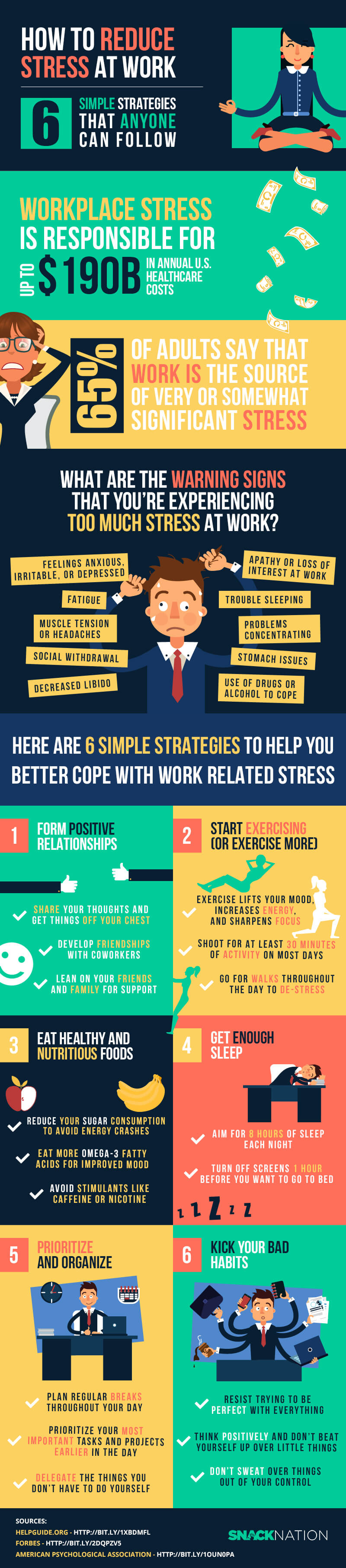 How-to-reduce-stress-at-work-infographic-plaza