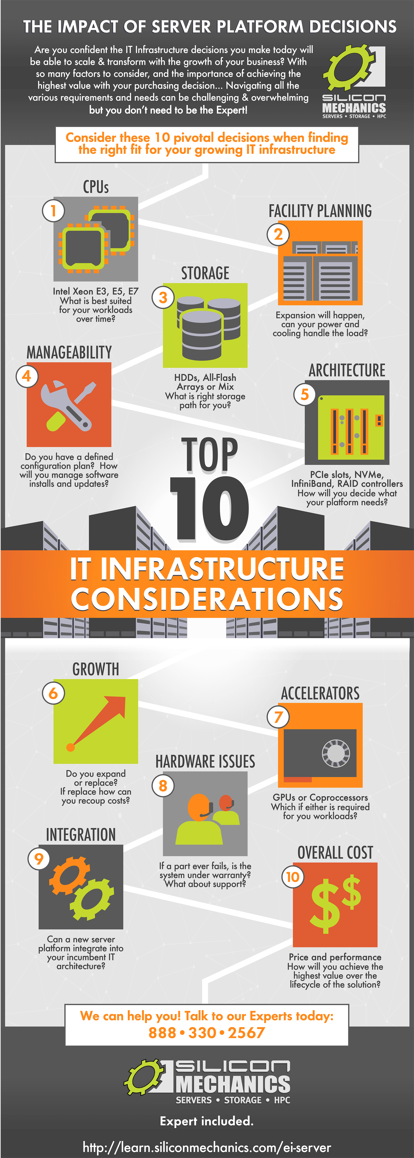 Top 10 IT Infrastructure Considerations