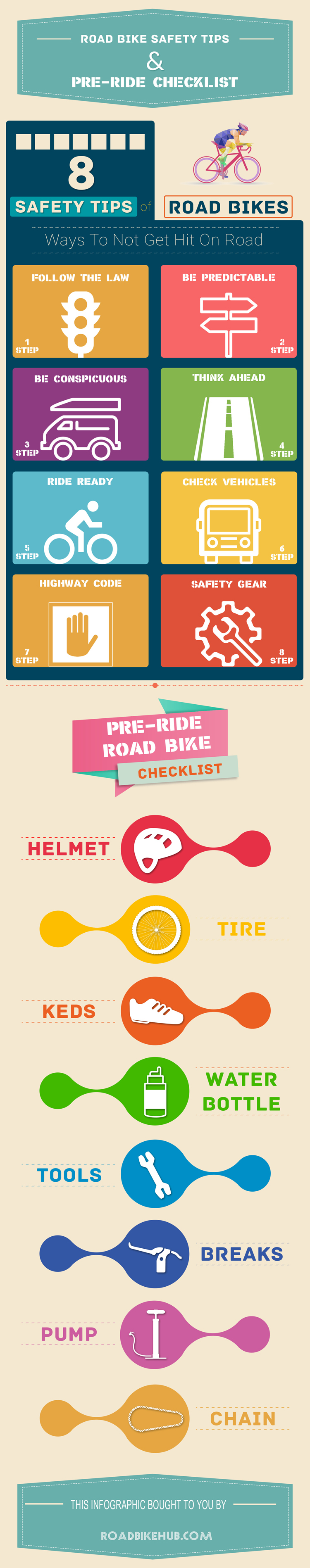 8 Safety Tips For Road Bikers And Pre-riding Checklist