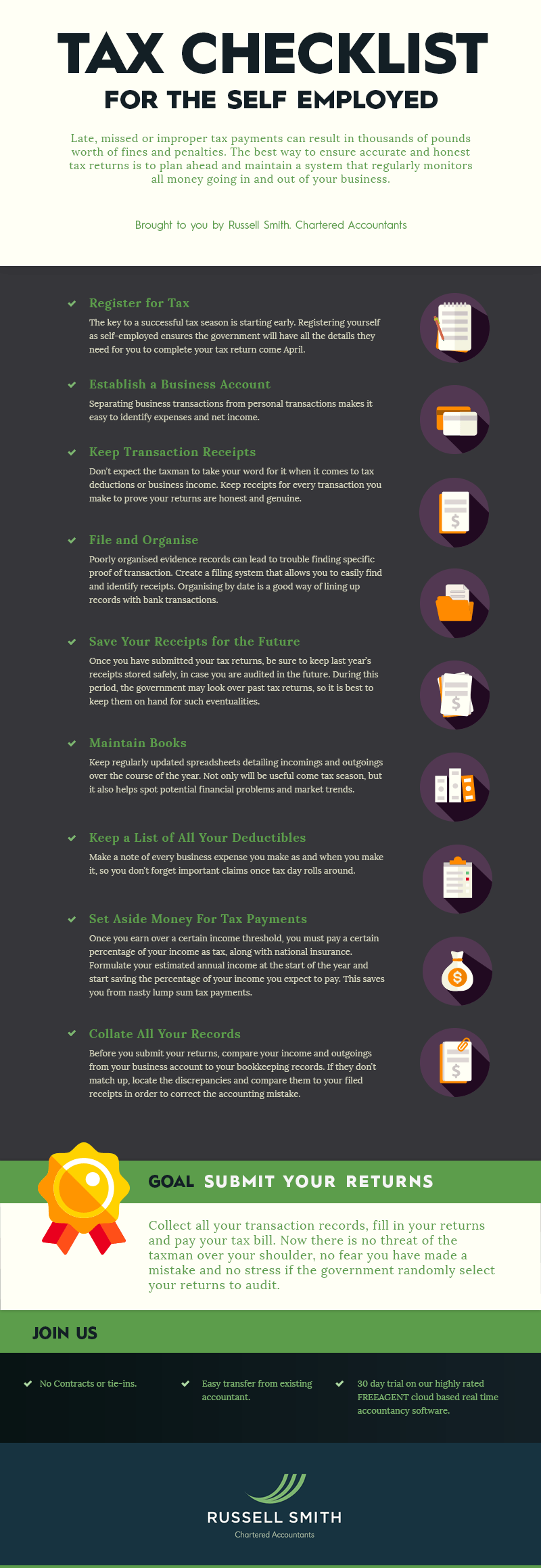 Tax-checklist-for-the-self-employed-infographic-plaza