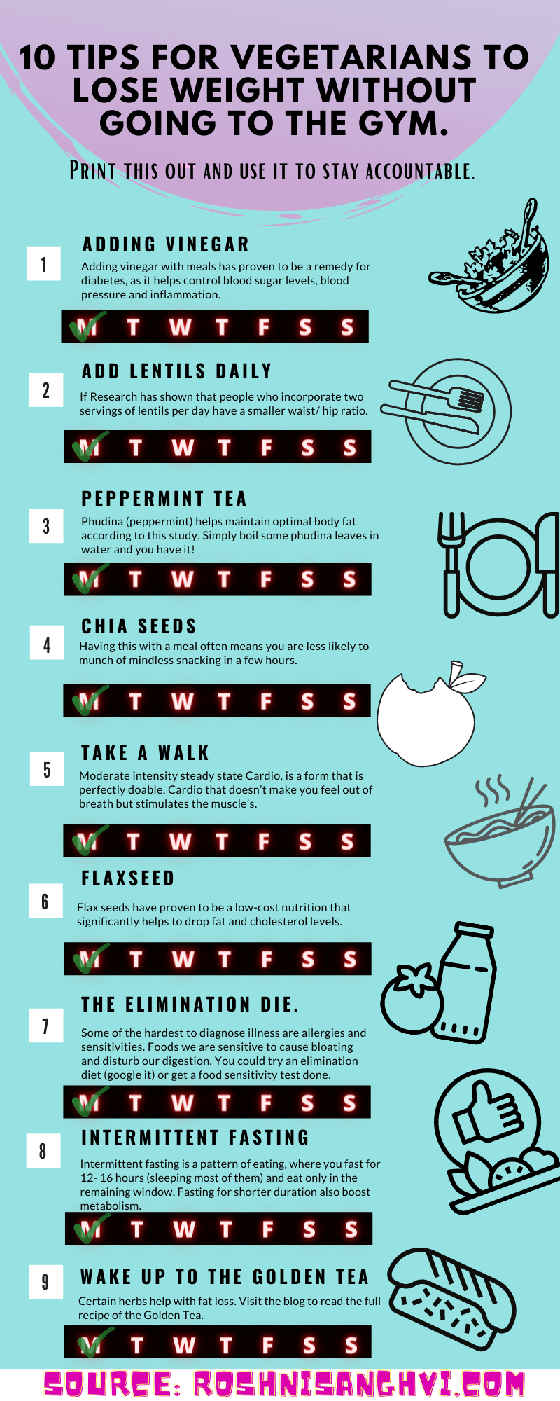 Top 9 Tips for Vegetarians to Lose Belly Fat Fast-infographic - plaza