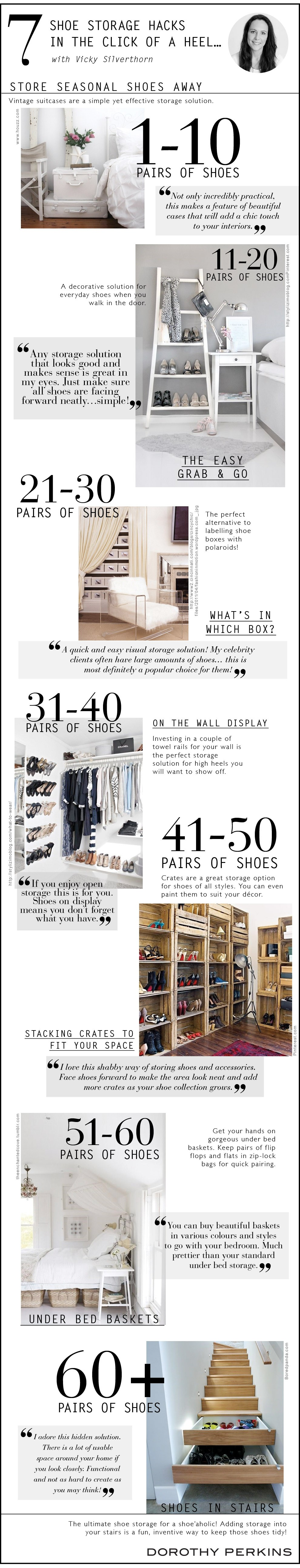 Shoe Storage Hacks in The Click of a Heel