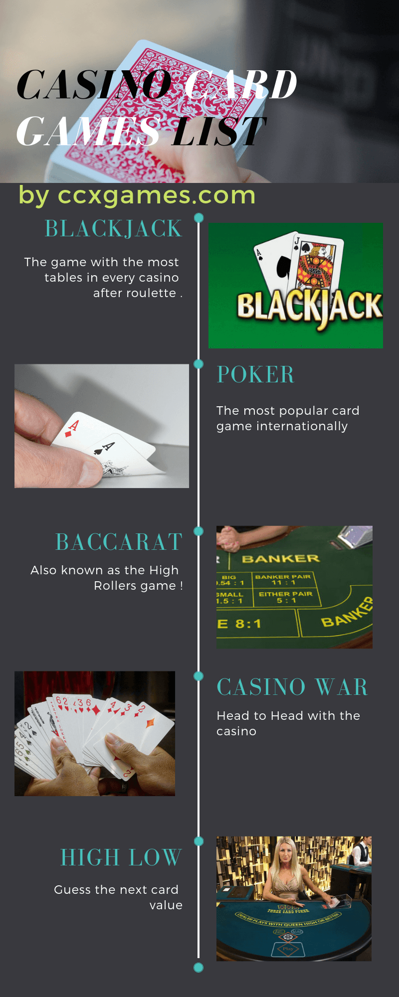 Casino Card Games List
