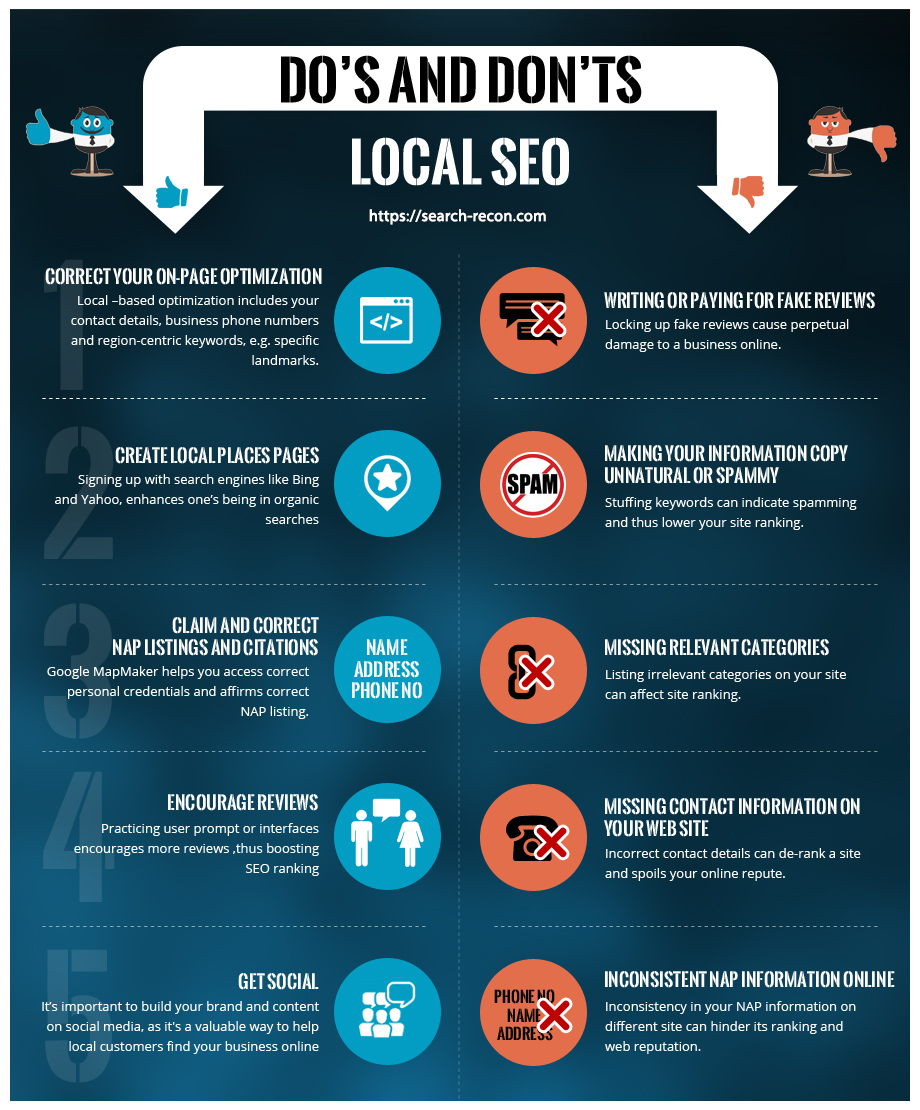 Local SEO Tips Search Recon