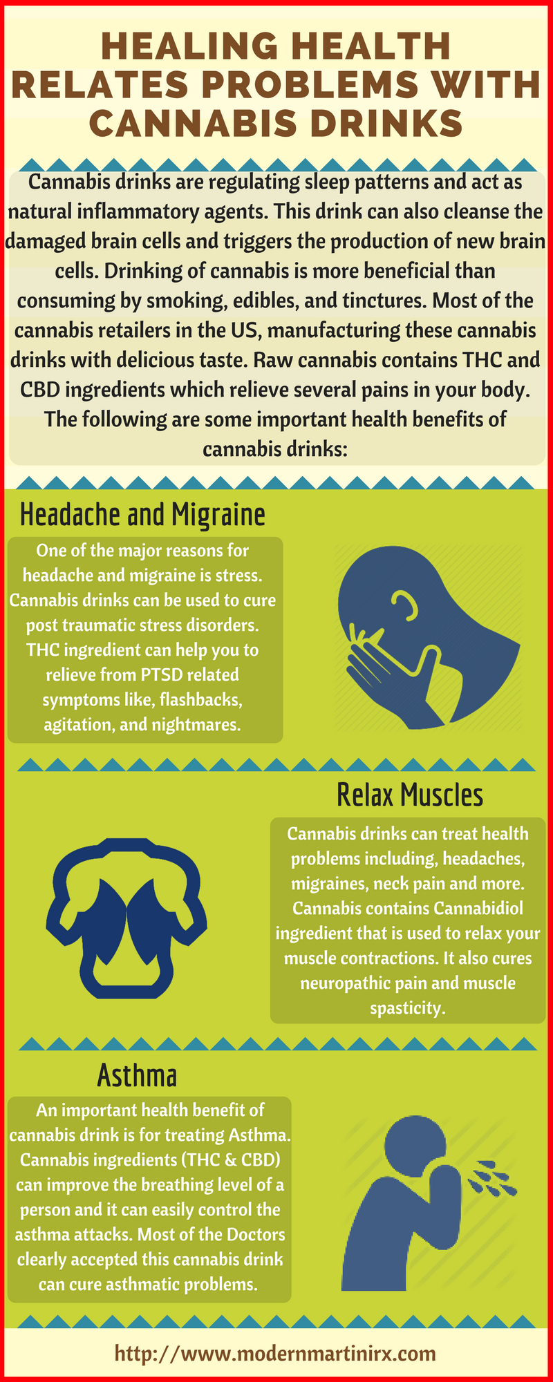 healing-health-relates-problems-with-cannabis-drinks-infographic-plaza