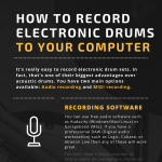 how-to-record-electronic-drums-infographic-plaza