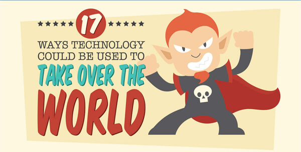 17 Ways Technology Could Be USed To Take Over The World [INFOGRAPHIC]