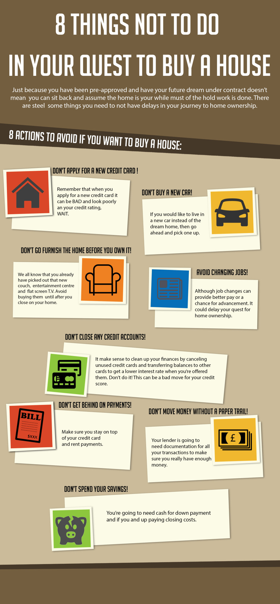 8 Things Not To Do In Your Quest To Buy A House