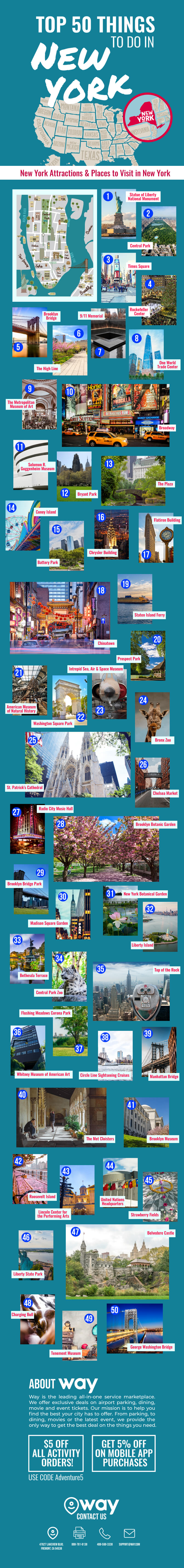 Top 50 Things to Do in New York